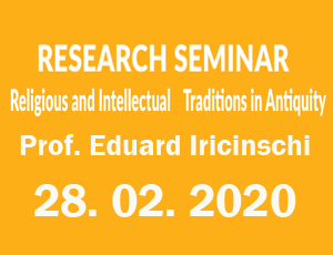 RESEARCH SEMINAR: Religious and Intellectual Traditions in Antiquity